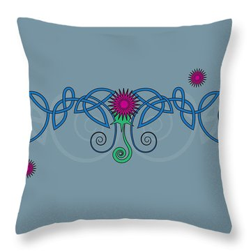 Celtic Thistle Throw Pillow