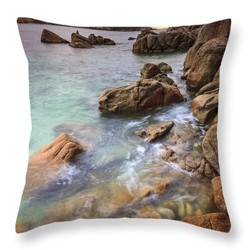 Chanteiro Beach Galicia Spain Throw Pillow