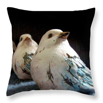 3 Cheeky Chicks 2 Throw Pillow