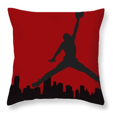 Chicago Bulls Throw Pillow
