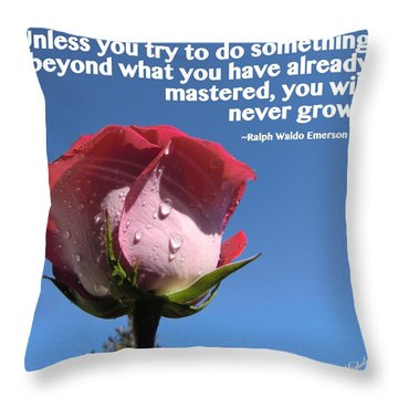 Choose Your Quote Choose Your Picture 21 Throw Pillow