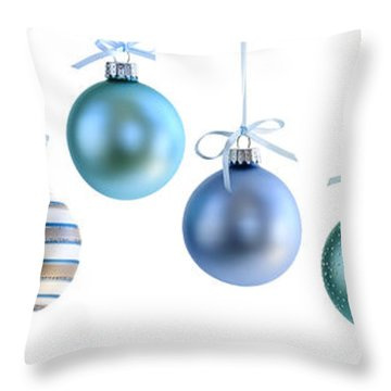 Christmas Ornaments Throw Pillow by Elena Elisseeva