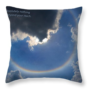 Circular Rainbow Throw Pillow