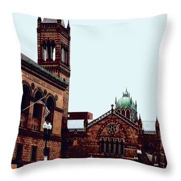 Throw Pillow featuring the photograph City Of Boston by Rose Wang
