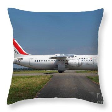 Cityjet British Aerospace Avro Rj85 Throw Pillow by Paul Fearn