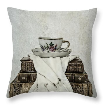 Coffee Time Throw Pillow by Joana Kruse