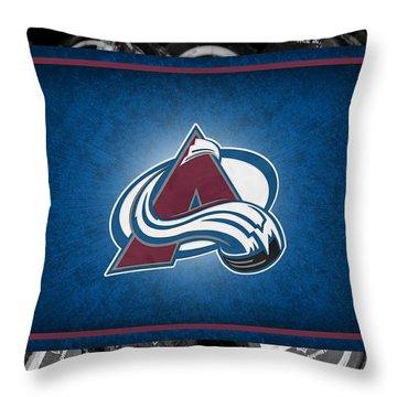 Colorado Avalanche Throw Pillow by Joe Hamilton