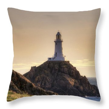 Corbiere Lighthouse - Jersey Throw Pillow by Joana Kruse