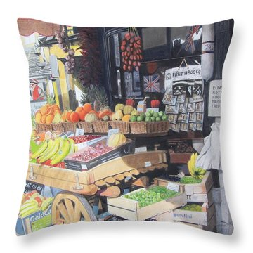 Cotswold Deli Throw Pillow