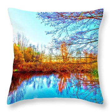 Countryside Throw Pillow by Pravine Chester