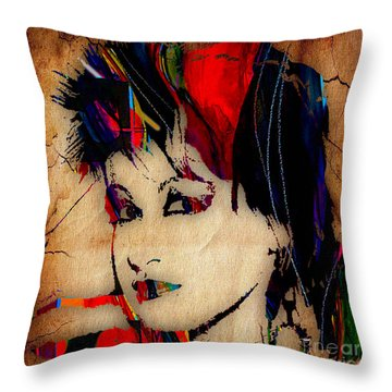 Cyndi Lauper Collection Throw Pillow