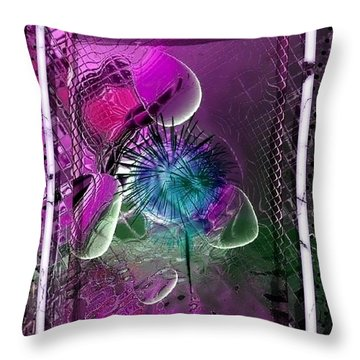 Throw Pillow featuring the digital art 3 D Drops by Nico Bielow