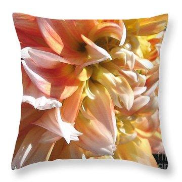 Dahlia Named Peaches-n-cream Throw Pillow by J McCombie