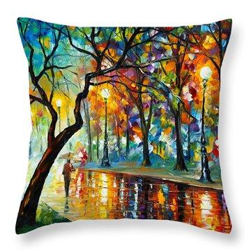 Dark Night Throw Pillow by Leonid Afremov