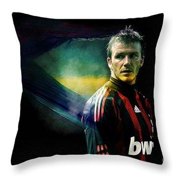 David Beckham Throw Pillow by Marvin Blaine