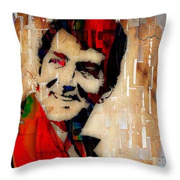 Dean Martin Collection Throw Pillow by Marvin Blaine