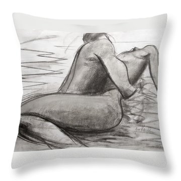 Deep Love Throw Pillow by Jarmo Korhonen aka Jarko