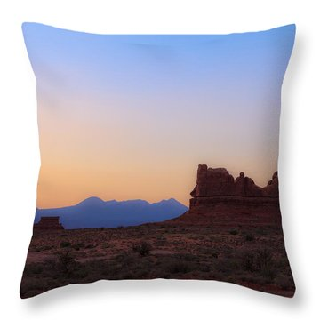 Desert Sunrise Throw Pillow by Jonathan Gewirtz