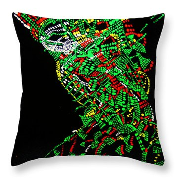 Dinka Groom - South Sudan Throw Pillow by Gloria Ssali