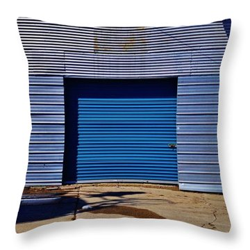 Throw Pillow featuring the photograph 3 Doors by Daniel Thompson