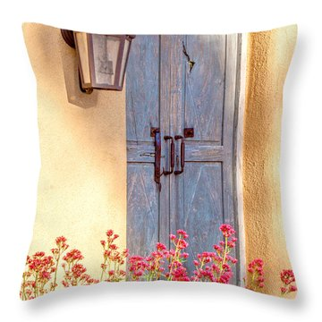 Doors Of Santa Fe Throw Pillow