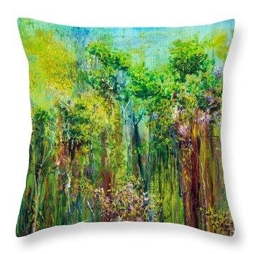 Edge Of Eden Throw Pillow by Regina Valluzzi