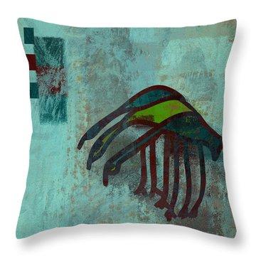3 Egrets - J076073091a2bl Throw Pillow