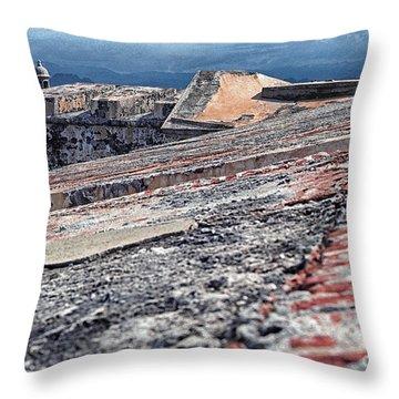 El Morro Fortress Old San Juan Throw Pillow by Thomas R Fletcher