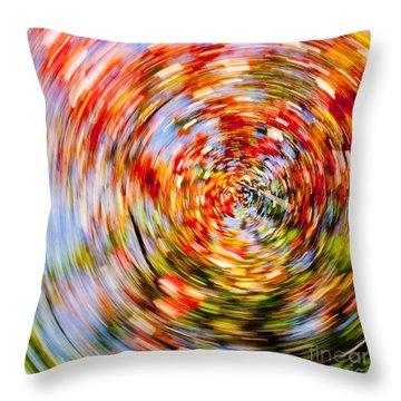 Fall Abstract Throw Pillow by Steven Ralser