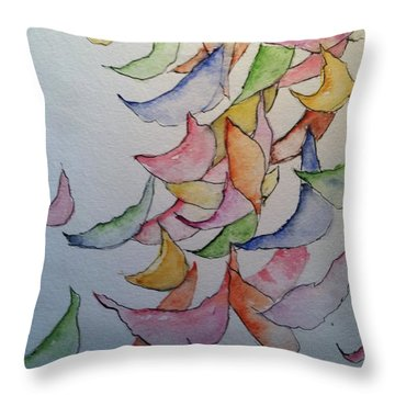 Falling Into Place Throw Pillow by Sherry Harradence