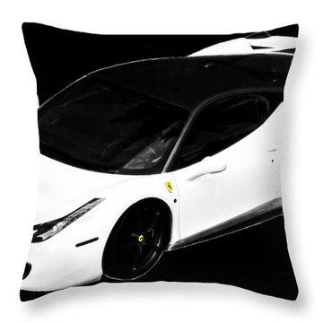 Ferrari Throw Pillow by J Anthony
