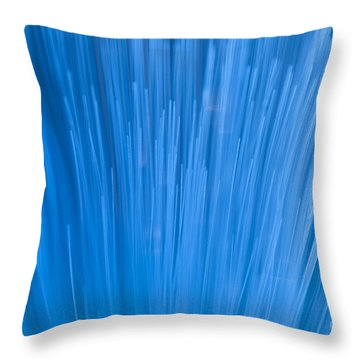 Fiber Optics Close-up Abstract Throw Pillow
