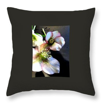 Flowers. Throw Pillow by Joyce Woodhouse