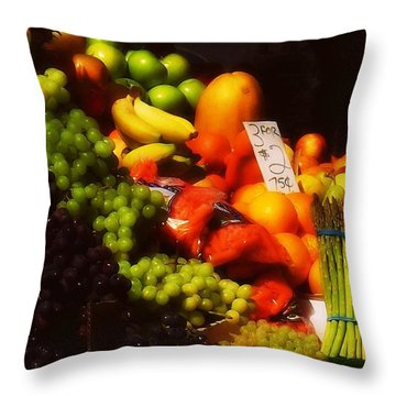 Throw Pillow featuring the photograph 3 For 2 Dollars by Miriam Danar
