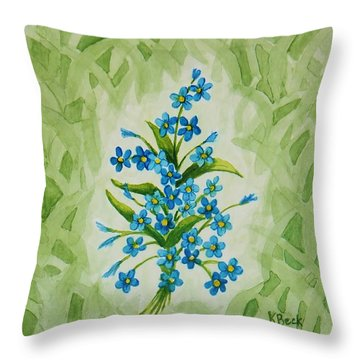 For-get-me-nots Throw Pillow