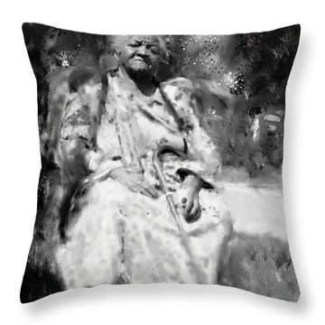 Former Slave Woman Throw Pillow by Vannetta Ferguson