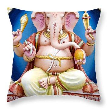 Colourful Ganesha Throw Pillow