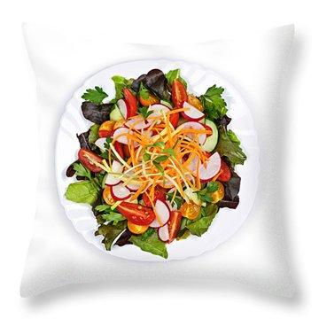 Garden Salad Throw Pillow by Elena Elisseeva