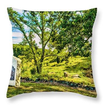 Gettysburg Battleground Throw Pillow by Bob and Nadine Johnston