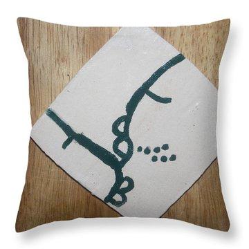 Grace - Tile Throw Pillow by Gloria Ssali