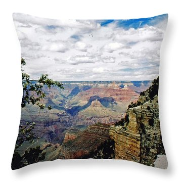 Grand Canyon Throw Pillow by Gary Wonning