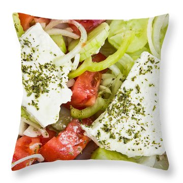 Salad Oil Throw Pillows