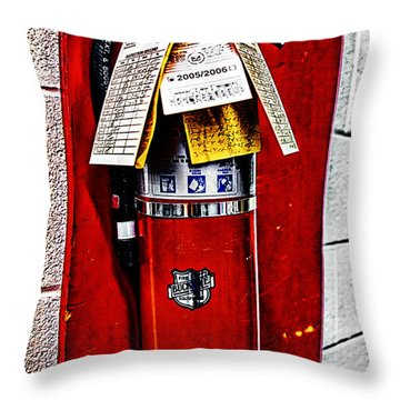 Grungy Fire Extinguisher Throw Pillow