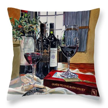 Guide To The Napa Valley Throw Pillow by Gail Chandler