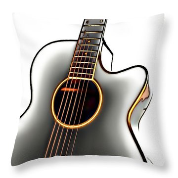 Guitar Throw Pillow by Walt Foegelle