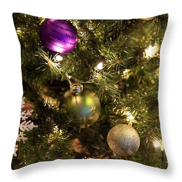 Throw Pillow featuring the photograph Happy Holidays by Patricia Babbitt