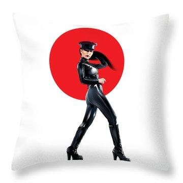 Hibiki Throw Pillow by Brian Gibbs