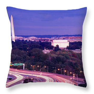 High Angle View Of A Cityscape Throw Pillow