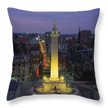 High Angle View Of A Monument Throw Pillow by Panoramic Images