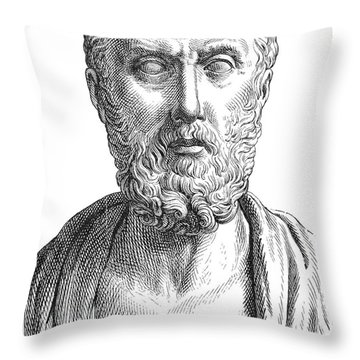 Hippocrates (c460-c377 B.c.) Throw Pillow by Granger